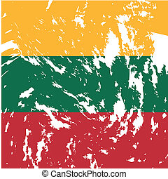 Lithuania - dirty Lithuania flag background