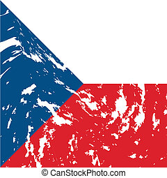 Czech Republic - dirty Czech Republic flag background