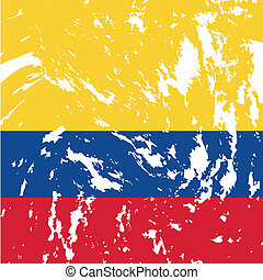 Colombia - dirty Colombia flag background
