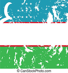 uzbekistan - dirty uzbekistan flag background