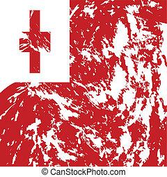 tonga - dirty tonga flag background