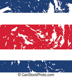 Costa Rica - dirty costa rica flag background