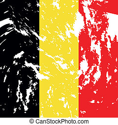 Belgium - Dirty Belgium flag background