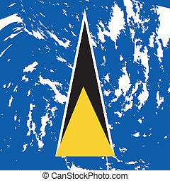 st. Lucia - dirty St. Lucia flag background