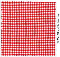 Checked fabric cloth