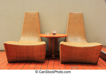 Rattan Chair in the room