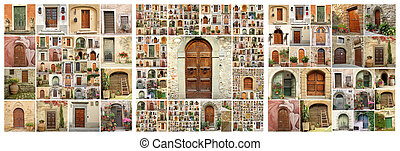 abstract house, collection of images from Italy Tuscany,...