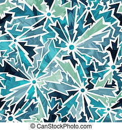 cold color cracks seamless pattern