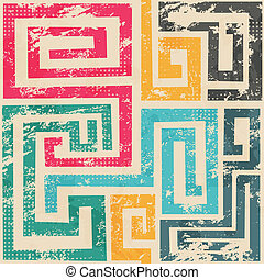 vintage spiral seamless patter with grunge effect