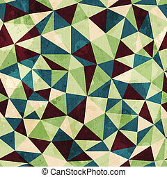 vintage triangle seamless pattern with grunge effect