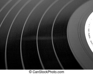 Vinyl record music recording support