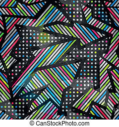 spectrum color seamless pattern with grunge effect