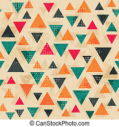 vintage colored triangle pattern with grunge effect
