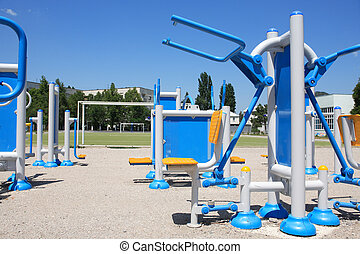 Outdoor Exercise Equipment - New modern outdoor exercise...