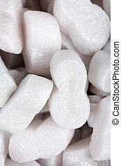 Foam packing - A close up of foam packing used to ship...