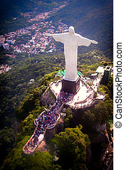 Christ The Redeemer - Aerial view of Christ the Redeemer...