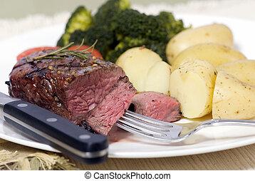 Top Sirloin Steak - A grilled top sirloin steak .. medium...