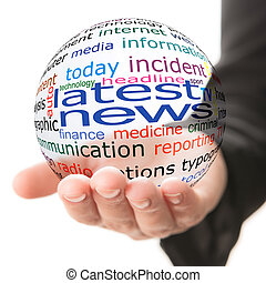 Concept of latest news in business