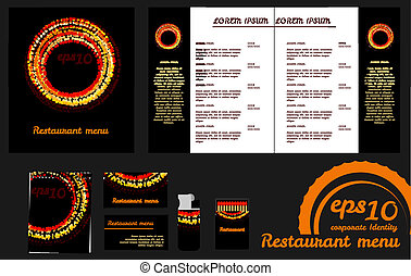 Restaurant menu design template an mockup