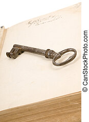 Old book and key