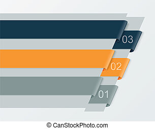 Set of numbered banners. Infographics templates