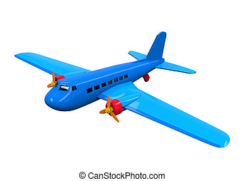Airplane Toy Isolated - Airplane Toy isolated on white...