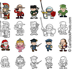 Cartoon people set - A set of cartoon people or children...