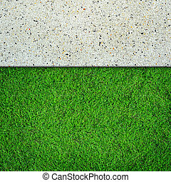 Grass and concrete background