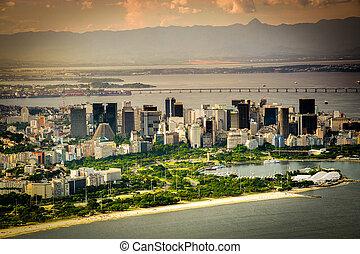 Aterro do Flamengo - Skyscrapers at the waterfront, Aterro...