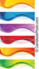 Business banner set - Vector website headers set, business...