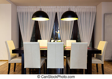Urban apartment - Table in dining room - Urban apartment -...