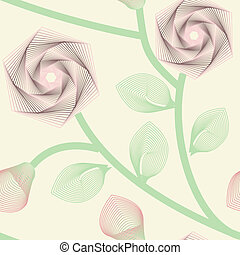 seamless pattern - Abstract roses seamless background. No...
