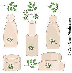 Natural cosmetics set.