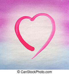 Heart  watercolor background