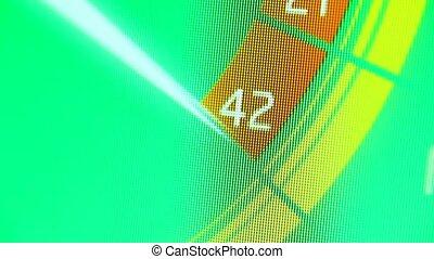 Internet web chart - Internet web icon on LED display