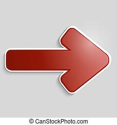 Vector red arrow