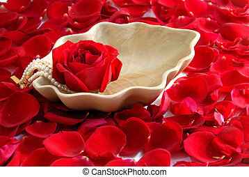 red Rose flower petals spa aromatherapy - red rose...