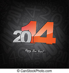 New 2014 year greeting card, with space for text, happy new...
