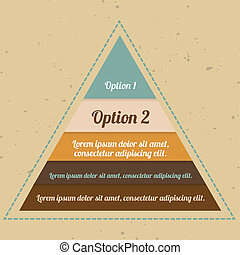 Infographic Pyramid - Infographic - vintage vector pyramid...