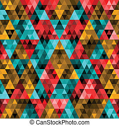 treangle2 - Vector Abstract Pixel Triangle Pattern
