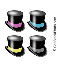 Top Hats - Colored Top Hats