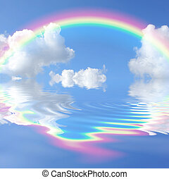 Rainbow Beauty - Rainbow fantasy abstract with reflection...