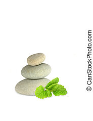 Spa Stones and Lemon Balm Herb