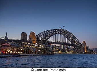 sydney harbour bridge in australia - sydney harbour bridge...