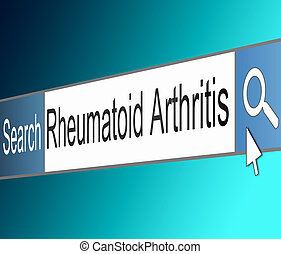 Rheumatoid Arthritis concept - Illustration depicting a...