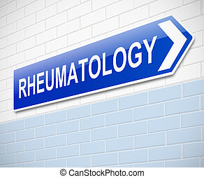 Rheumatology sign - Illustration depicting a sign directing...