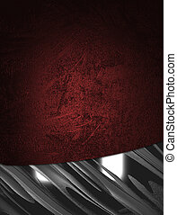 Grunge Red background with abstract metal edges. - The...