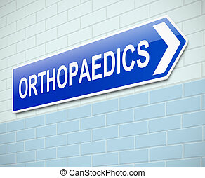 Orthopaedics sign. - Illustration depicting a sign directing...