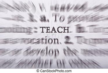 ensinando