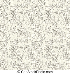 Hop seamless pattern Vector illustration